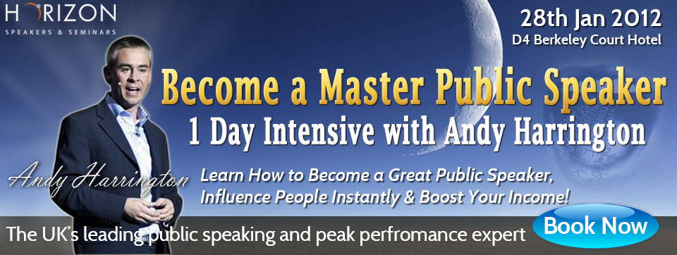 Become a Master Public Speaker 1 Day Intensive with Andy Harrington @ D4 Berkeley Court Hotel, D4 | Dublin | County Dublin | Ireland